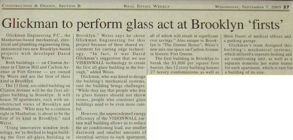 Glickman to Perform Glass Act at Brooklyn 'Firsts'
